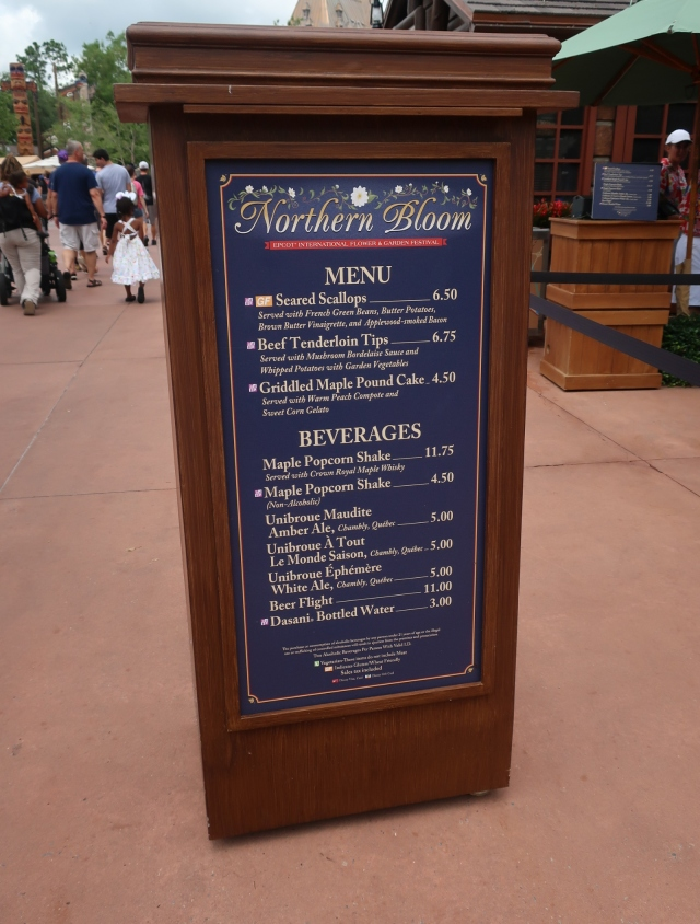 Northern Bloom Menu