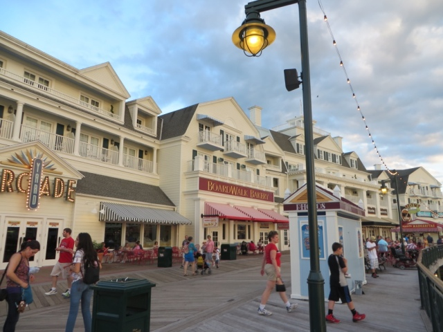 View of Dining Options on the Boardwalk