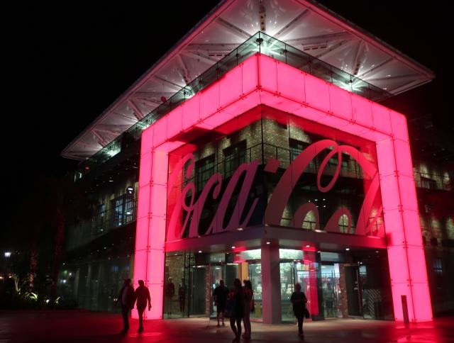 Coca Cola Store at Night